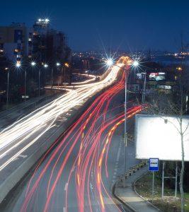 Bulgaria Night Black Burgas Traffic Landscape