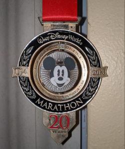 Disney marathon medal